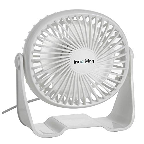 2 ventilatore usb Innoliving INN513 Ventilatore da Tavolo Portatile 10 Cm USB Inn-513