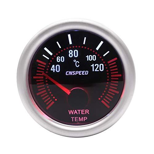 12V 2 '' 52mm Medidor automático de temperatura del agua 40-120C Lente universal de humo con sensor de temperatura del agua Indicador del coche