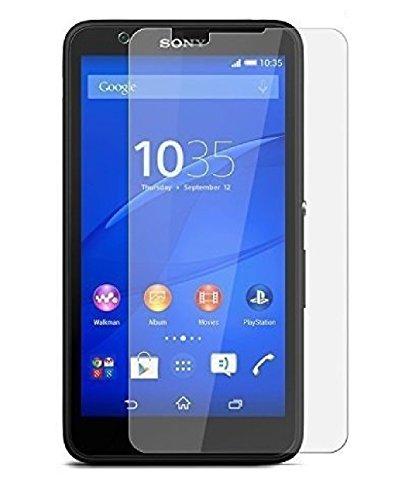 DEET Sony Xperia E4(E2104, E2105)–Protector de pantalla de cristal templado anti rasguños HD transparente 9H Dureza Guardia película a prueba de roturas