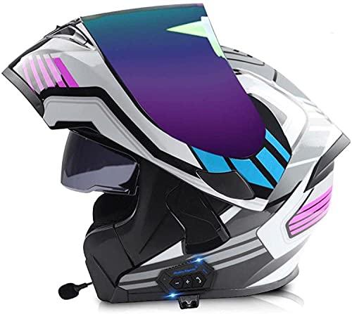 Casco De Motocicleta Casco Integral Con Bluetooth Integrado Para Carreras De Resistencia En Descenso Fuera De La Carretera, Casco De Motocicleta Todo Terreno, C,XL