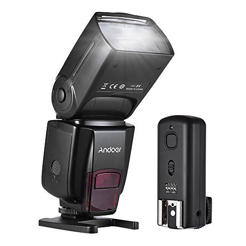 Wireless Flash, Andoer Speedlite GN50 Support 100m 5600k Flash LCD Display Flash Universal On-camera Slave with Flash Trigger for Canon Nikon for Sony A7/ A7 II/ A7S/ A7R/ A7S II DSLR Cameras