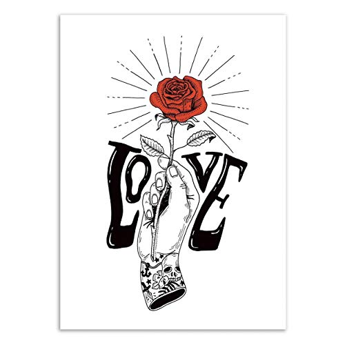 Wall Editions Poster Hand with a Rose Sarah Matuszewski