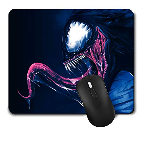 Gaming Mouse Pad,Cute Mouse Mat with Design,Waterproof and Non-Slip Rubber Base Office Mousepad,Middle Size 9.45x 7.87 x 0.08 Inch,Venom Colour