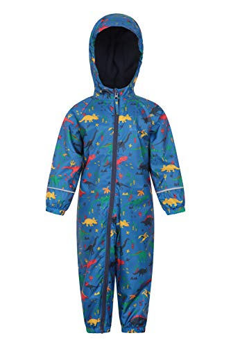 Mountain Warehouse Spright Kids Printed Waterproof Rain Suit Raincoat - Spring Blue 2T-3T