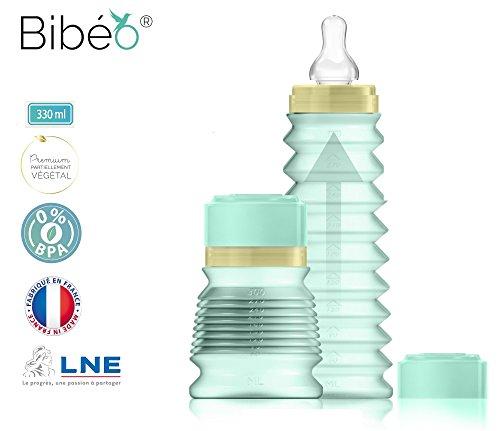 Bibeo Premium, Biberon de sortie, Mint, 330 ML 1...