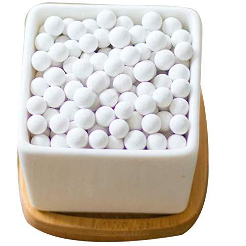 FamilyeShop Ceramsite Semi Hydroponics Soilless Live Plant Semi Hydro Growing Media, Indoor Plants in leca Beads Hydro Balls Bonsai Fairy Garden (White (5 lbs))
