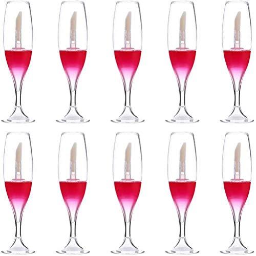 YINLANG Tubo per lucidalabbra, 10 Pezzi Tubi per lucidalabbra Vuoti da 8 ml Tubi per lucidalabbra a Forma di Mini Bicchiere da Vino Creativo Bottiglie riutilizzabili Contenitori per Smalto