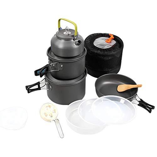 NXYJD HWLXCJTZH Camping Kit de Utensilios de Cocina Kit Ligero Mochilero Juego de cocinas Polotes de Picnic y sartenes para Camping Mochilero Herramienta de Utensilios de Cocina al Aire Libre