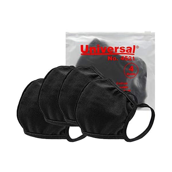 Universal 4521 Cloth Face Masks – Reusable Nose & Mouth Mask, 100% Cotton,...