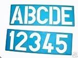 Pochoir Lettre ALPHABET 100mm Majuscule et nombres