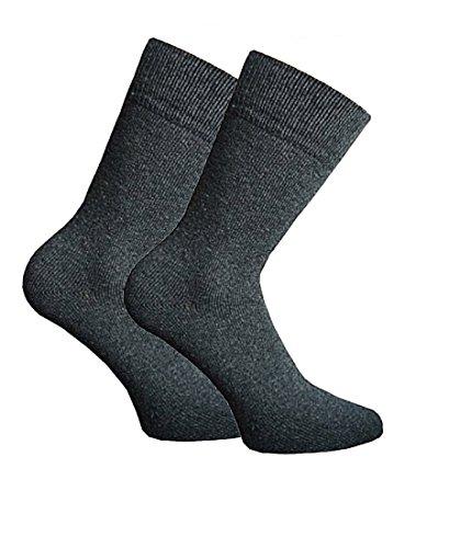 Good Deal Market 3 of 6 paar herensokken met wol grijze antraciet zwart zonder rubber business sokken uni pak sokken voor heren