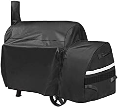 QuliMetal Grill Cover for Oklahoma Joe's Highland Smoker, Charcoal Offset Smoker Barbecue Cover, Fits Char-Broil, Dyna-Glo, Royal Gourmet, Char-Griller and More, All Weather Protection