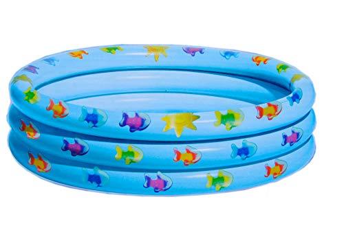 Baby Pool NEMO FISCH - Plantschbecken 100, TPU Material, kein PVC, Royalbeach Planschen hellblau fish