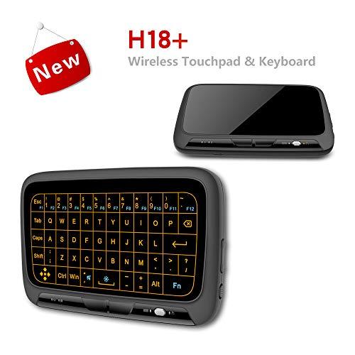 CCFCF Ultra-Slim Mini Wireless Touchpad Keyboard all-in-one-draadloos toetsenbord met geïntegreerde microfoon, voor smart tv, HTPC, PC, tablet, Google laptop, Windows en Android
