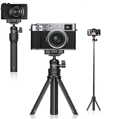 Trepied Smartphone, ULANZI MT-34 Perche Selfie Trépied Tout-en-Un, Trepied Extensible Appareil Photo Compatible avec iPhone 12 Pro Max/12 Mini/11 Pro Max/XR/X, Samsung Téléphone, Caméra Vlog