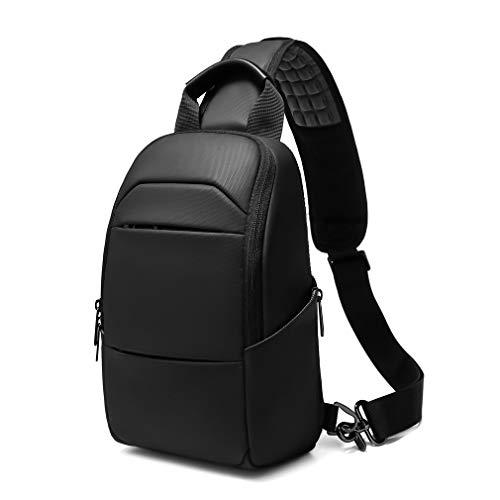 Eurcool Messenger Bag for Men,Small Black Sling Crossbody Bags,with USB Port Waterproof Daypacks,Hiking Biking Shoulder Bag