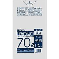 【5ケース特価】HHJ 食品検査適合 業務用ポリ袋 70L 透明 0.045mm 300枚×5ケース 10枚×30冊入×5 MX78