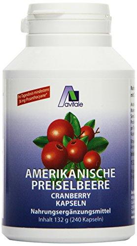 Avitale Preiselbeere amerikanisch 550 mg Kapseln, 240 Stück,  1er Pack (1 x 132 g)