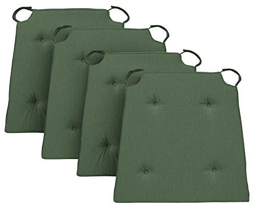 Traumnacht Basis, Cuscino per Sedia, Set di 4, Verde, 40 x 42 x 4cm