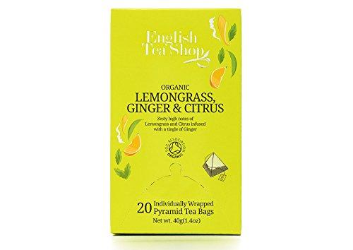 Photo of English Tea Shop Organic Lemongrass Ginger and Citrus – 20 Pyramid Tea Bag Sachets