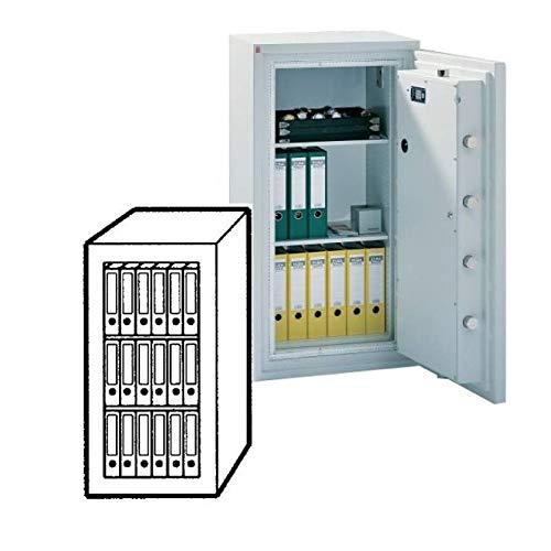 Sistec Wertschutzschrank SE 4 120/0, Elektronisches Tastenschloss Paxos Compact Set I + Mechanisches Zahlenkombinationsschloss, Grad 4 nach EN 1143-1, H120xB62xT58 cm, 690 kg