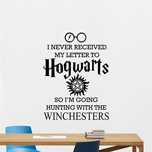 78 * 58cm Ich erhielt nie meinen Brief Hogwarts Wandtattoo Supernatural Potter Vinyl Zitat Boy Room Living Poster