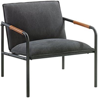 Best Sauder Boulevard Cafe Metal Lounge Chair, Charcoal Gray finish