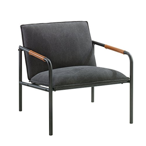 Sauder Boulevard Cafe Metal Lounge Chair, Charcoal Gray finish