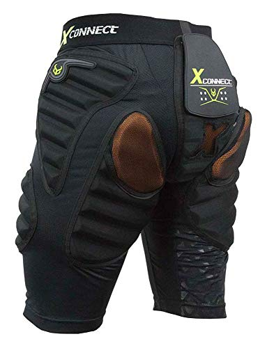 Demon Snow Flex Force Short D3O Snowboard Schutz, Herren, Schwarz, XL