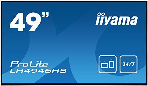 iiyama Prolite LH4946HS B1 1232cm 485 Digital Signage Display IPS LED Full HD 247 VGA DVI 2xHDMI Displayport RS232 RJ45 IR USB20 Schwarz