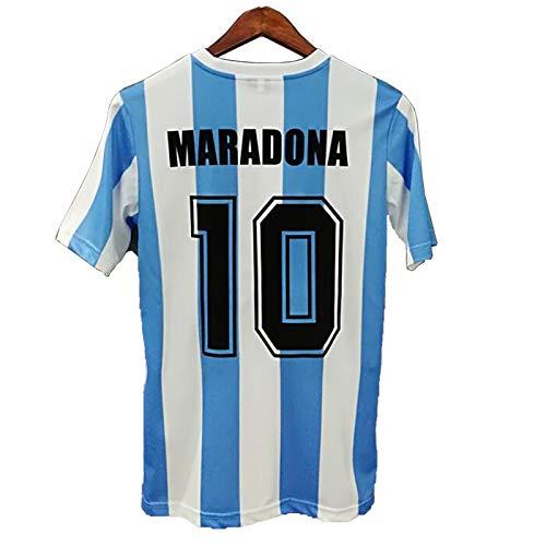 FCST Diego Maradona Jersey 1986 Argentina Home Retro Maglia Calcio Jersey Blu L