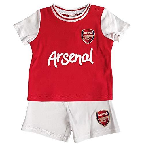 Arsenal FC Baby Unisex Shirt & Shorts Set - Rot/weiß, 2-3 Years