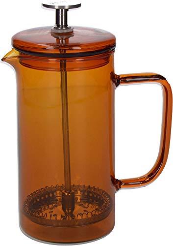La Cafetiere Core Cafetière à piston en verre borosilicate, Verre borosilicate, Ambre, 3 Tasses (350 ml)