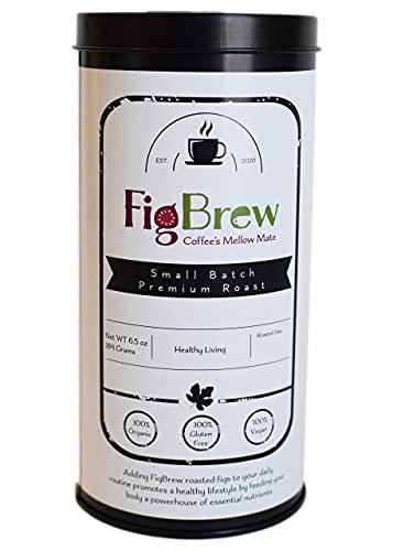 FigBrew Figgee Roasted Fig Beverage - 40 Cup Tin - Fig Coffee - Caffeine Free - 100% Organic & Gluten Free