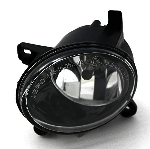 JP Auto Front Fog Light Lamp Compatible With Audi A4 All Road S4 A6 S6 Q5 Hybrid Sq5 2009 2010 2011 2012 Driver Left Side