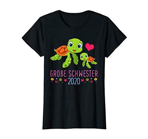 Tochter Geschenk Ich Werde Große Schwester 2020 Schildkröte T-Shirt