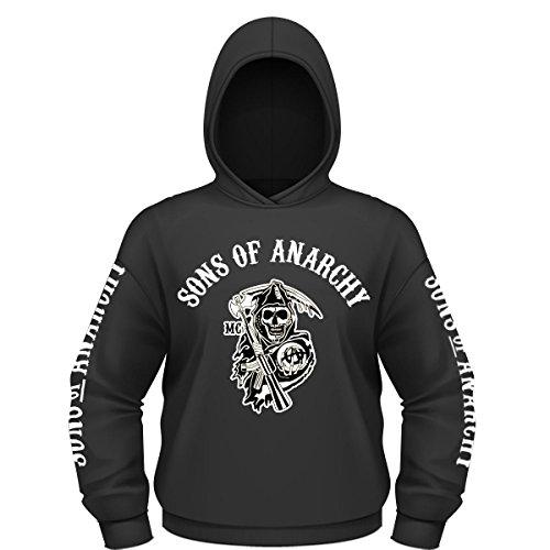 Sudadera con capucha Hijos de la Anarquía (S - 3XL) Redwood Original Hombres de Mayhem Jax Teller OPIE Negro Negro ( XL