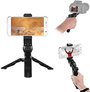 Phone Tripod, Andoer Camera Stabilizer 1/4 Screw Handheld Mini Universal Smartphone Holder Tripod for iPhone Samsung Andro...
