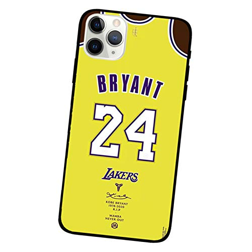 XMYP Bryant Funda para iPhone 12/12 Mini/12 Pro/12 Pro Max, TPU Material Mamba Jersey Protector Cover Anti Caída Ultrdelgada Estrella Deportiva Funda O-for 12 Mini (5.4')