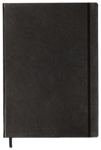 Leuchtturm1917 Plus Master - Cuaderno (A4, piel, de rayas), color negro