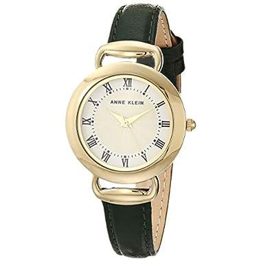 Anne Klein Women's Leather Strap Watch, AK/3830