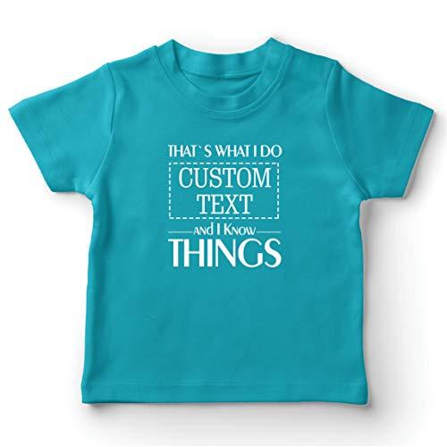 lepni.me Camiseta para Niño/Niña Costumbre Eso es lo Que Hago Personalizada y sé Cosas (9-11 Years Azul Claro Multicolor)