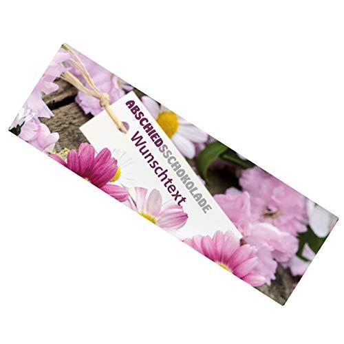 Herz & Heim® XL Schokolade 300g als Geschenk zum Abschied mit Wunschtext