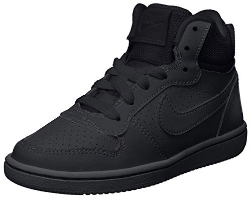 Nike Court Borough Mid (GS), Zapatillas de Baloncesto para Niños, Negro (Black/Black-Black 001), 38.5 EU