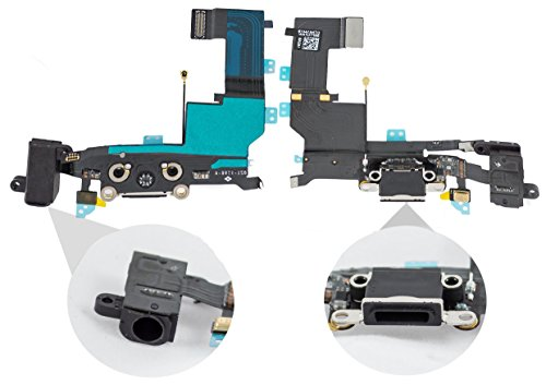 Cable Flex Conector USB Dock Carga Microfono Jack de Audio Blanco para iPhone 5S
