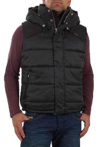 G-STAR RAW Whistler HDD Chaleco, Negro 990, L para Hombre