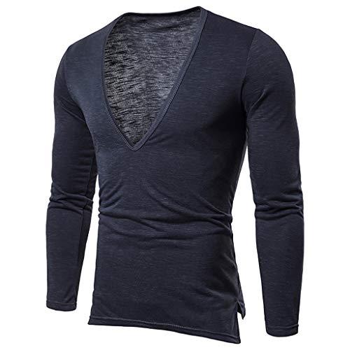 Xmiral T-Shirt Uomo T-Shirt Semplice Moda Casuale Maniche Corta T Shirt Maglietta da Uomo Camicie da Uomini Tees Manica Lunga Tops Maniche Corte Polo Maglietta Uomo L Marina Militare
