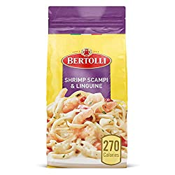 Bertolli Shrimp Scampi & Linguine Frozen Meals With Bell Peppers in a Creamy Garlic Sauce, 22 oz.