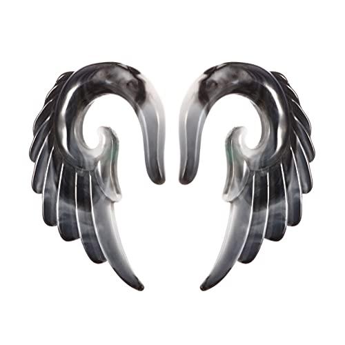 X/L Juego de piercings de espiral, tribales y dilatadores acrílicos, dilatadores de cuerno góticos,...