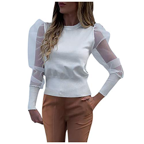 Gueuusu Womens Leopard Print V-Neck Bell Short Sleeve High Low Tunic Tops T-Shirt Blouse S-2XL